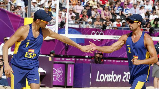 Pablo Herrera y Adrián Gavira, en los Juegos de Londres.