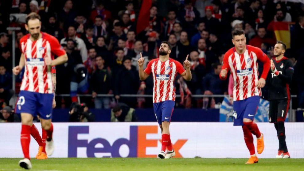 Diego Costa celebra su gol