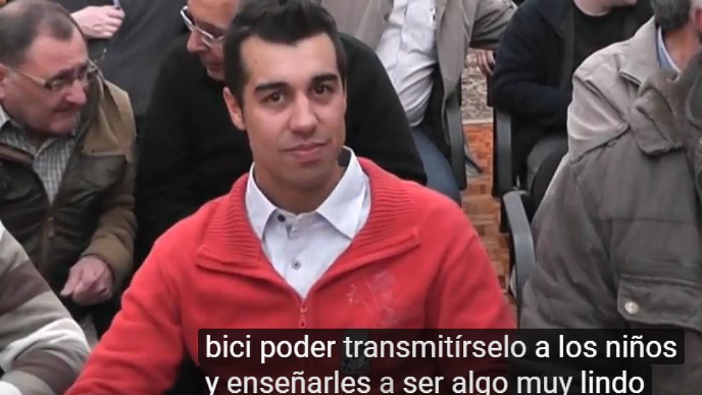 Captura de un vídeo con Nacho Maldonado como responsable de una...