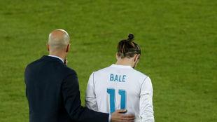 Zidane y Bale, en un partido.