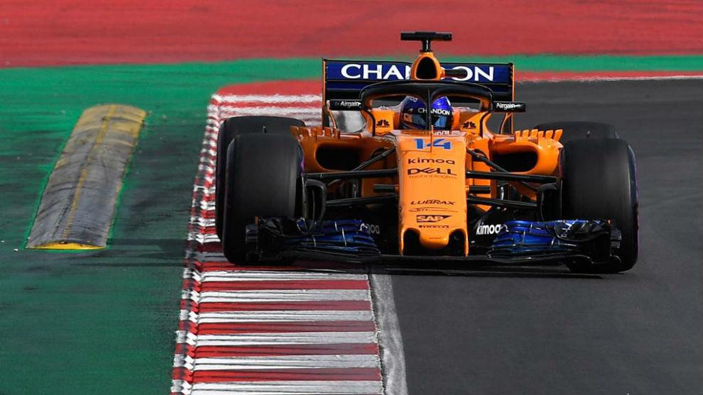 Alonso, en Barcelona