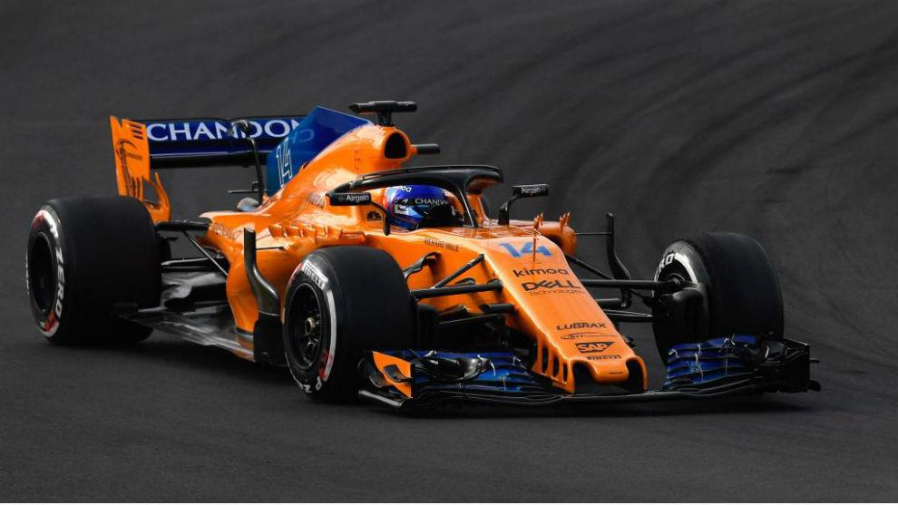 Fernando Alonso, hoy en pista.
