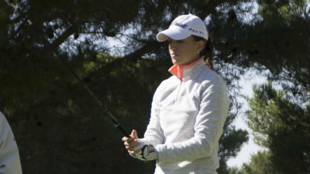 Silvia Bañón, durante un torneo