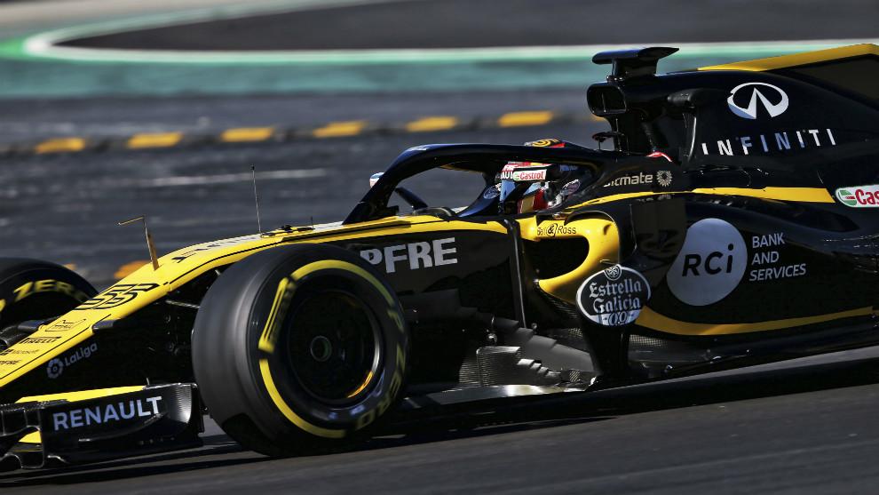Carlos Sainz, con el RS18