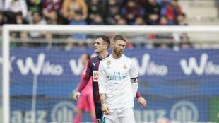 Ramos, en el partido ante el Eibar