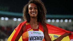La española María Vicente, durante una competición