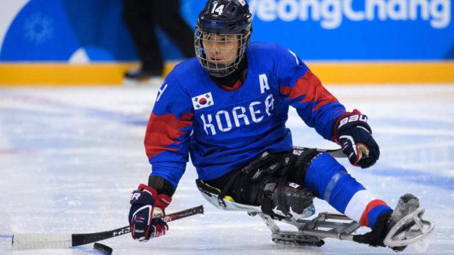 Jung Seung Hwan, en los Juegos Paralímpicos de Pyeongchang