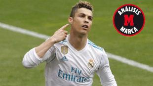 Ronaldo, tras marcar el primero de los goles ante el Eibar.