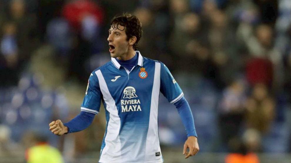Esteban Granero, con gesto triufante en un encuentro.