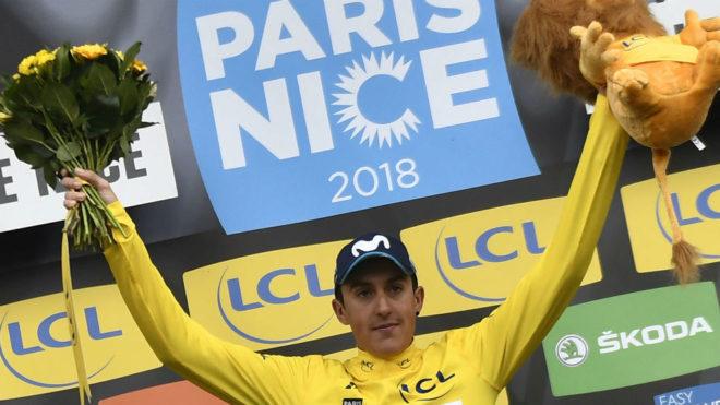 Marc Soler, en el podio.