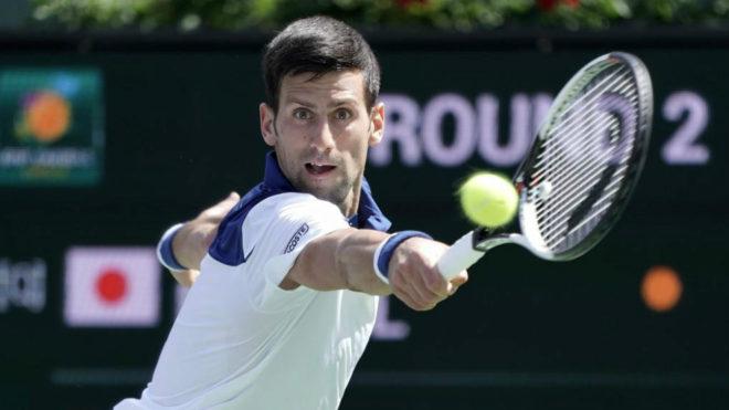 Novak Djokovic durante el partido.