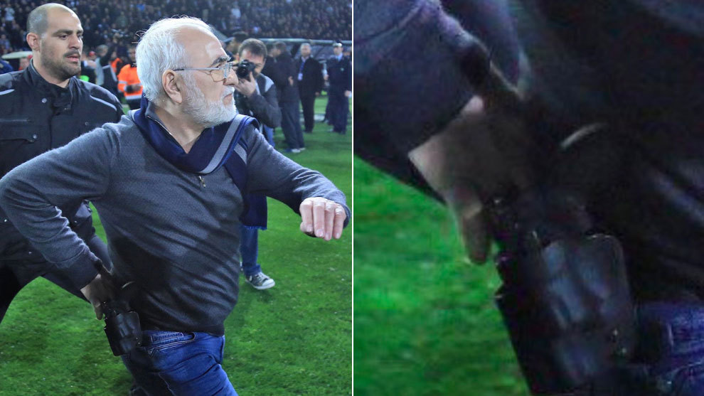 Presidente de equipo griego ingresa a cancha para agredir a árbitro
