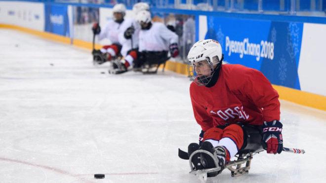 Lena Schroeder durante un partido en Pyeongchang