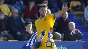 Álvaro Giménez, durante el partido ante el Lorca en Santo Domingo