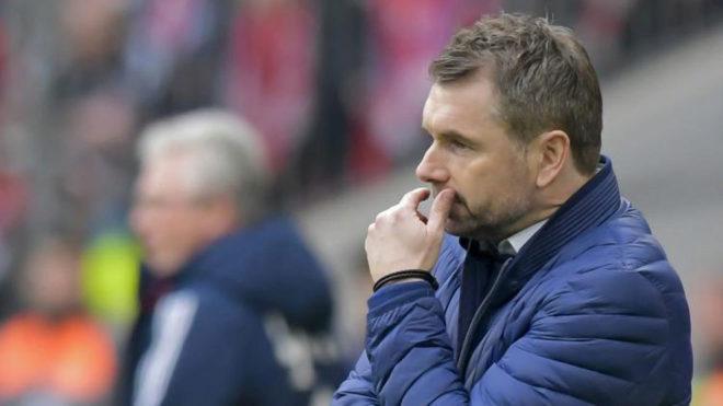 Hollerbach, cariacontecido ante el Bayern /