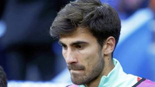 André Gomes, en un partido con Portugal