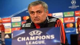 Mourinho, en sala de prensa