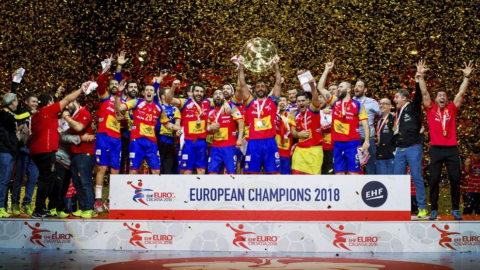 Los 'Hispanos' celebran el oro en el pasado Europeo de Croacia