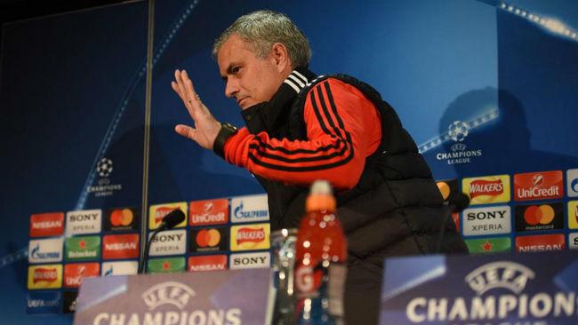 José Mourinho, en la rueda de prensa de hoy en Mánchester.