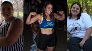 Olivia Parker, una profesora de instituto que pesaba 145 kg., ha...