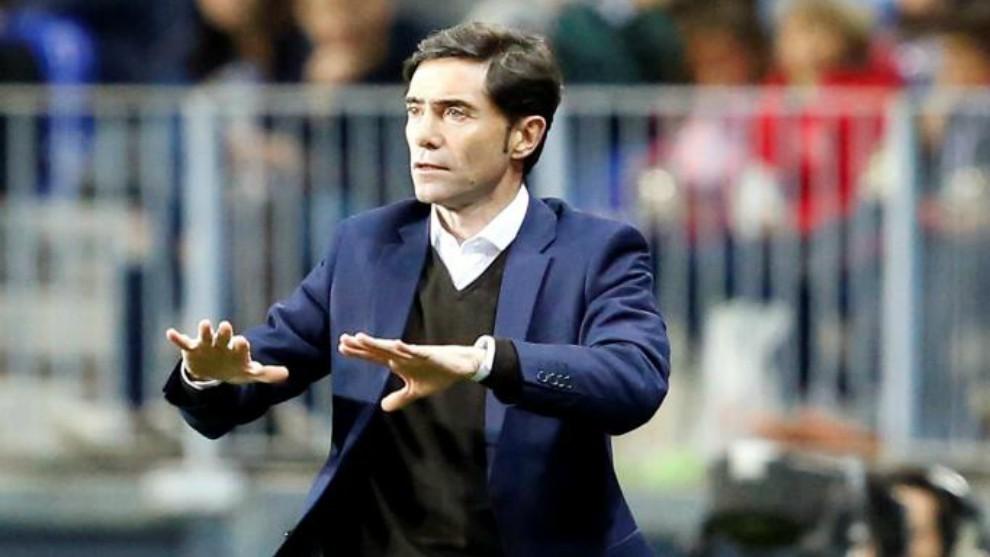 Marcelino pide calma durante un partido