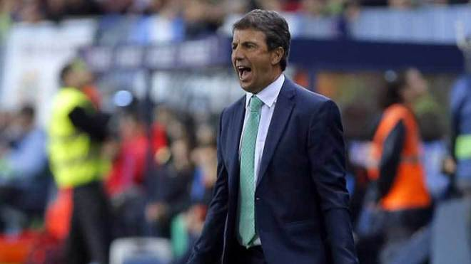 José González, en un partido del Málaga.