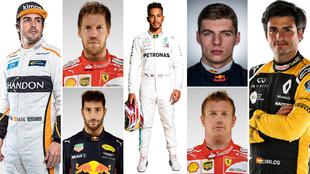 Pilotos oficiales del Mundial de Fórmula 1 2018