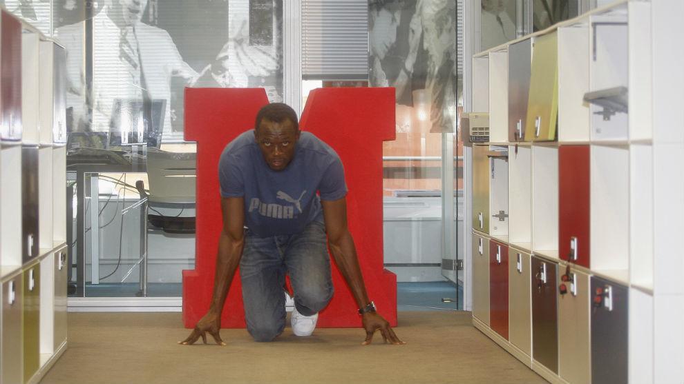 Usain Bolt, en la redacción de MARCA tras los Mundiales de Berlín...