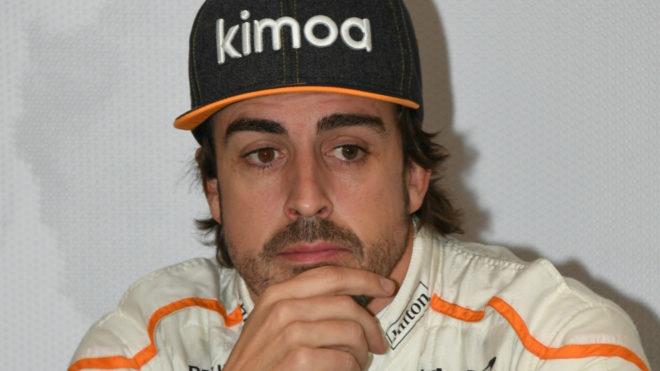 Fernando Alonso, pensativo.