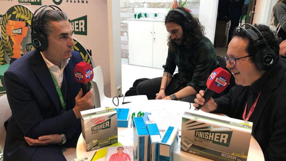 Sergio Scariolo junto a Vicente Ortega durante la entrevista en T4