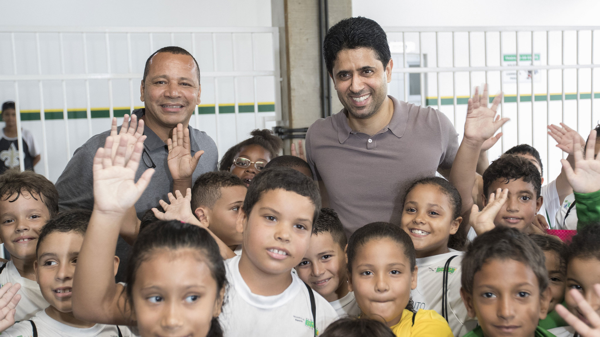 El presidente del París Saint-Germain, Nasser Al Khelaifi ,...