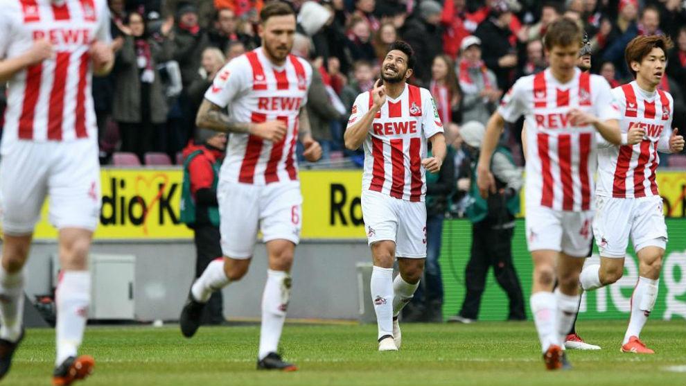 Pizarro en un partido con el Colonia.