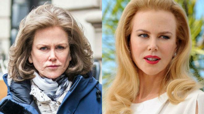 Nicole Kidman cambió su característico pelo rubio por un pelo canoso