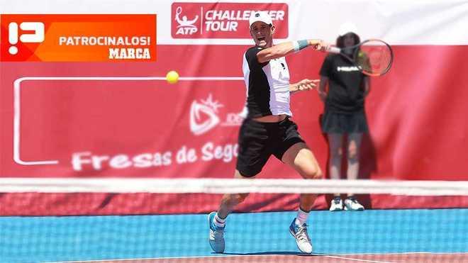David Vega durante un torneo.