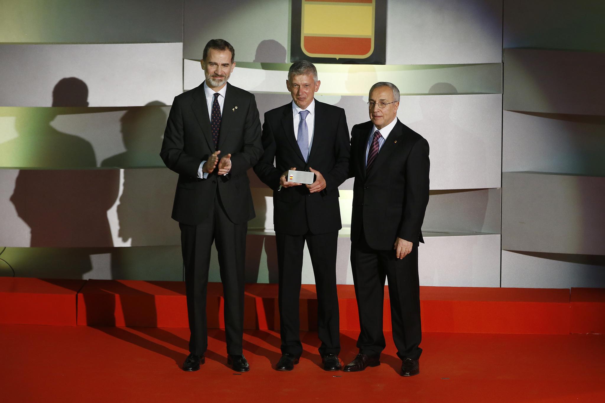 Don Felipe, Daniel Plaza y Alejandro Blanco.