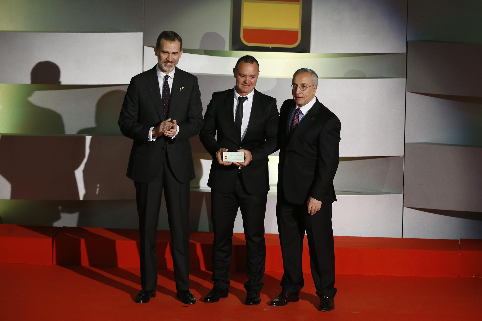 Felipe VI, José Manuel Moreno y Alejandro Blanco.