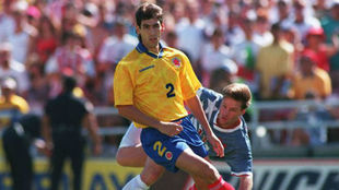 Escobar, durante el famoso partido ante Estados Unidos en el Mundial...