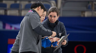 Irantzu, en la pista paralímpica de curling en Pyeongchang
