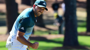 Sergio García, durante la última jornada del Masters de Augusta.