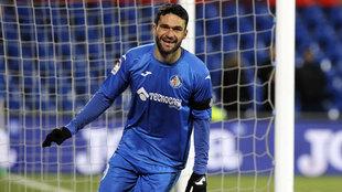 Jorge Molina en el encuentro contra el Deportivo de la Coruña