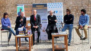 Antonio Cascales, Miguel Díaz y Juan Carlos Ferrero, en la...