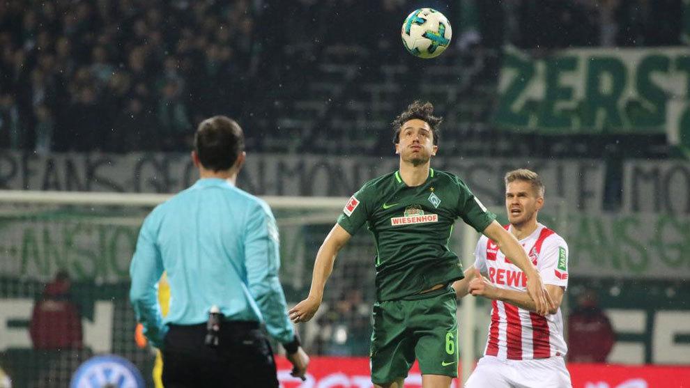 Partido de la Bundesliga entre el Werder Bremen y el Colonia