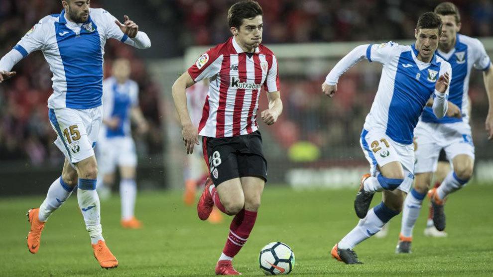 Partido de la Liga Santander entre el Athletic Club y el Leganés