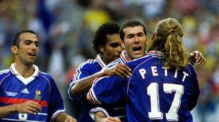 Zidane celebra un gol en el Mundial de 1998