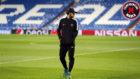 Neymar pasea por el Bernabéu en la víspera del Madrid-PSG
