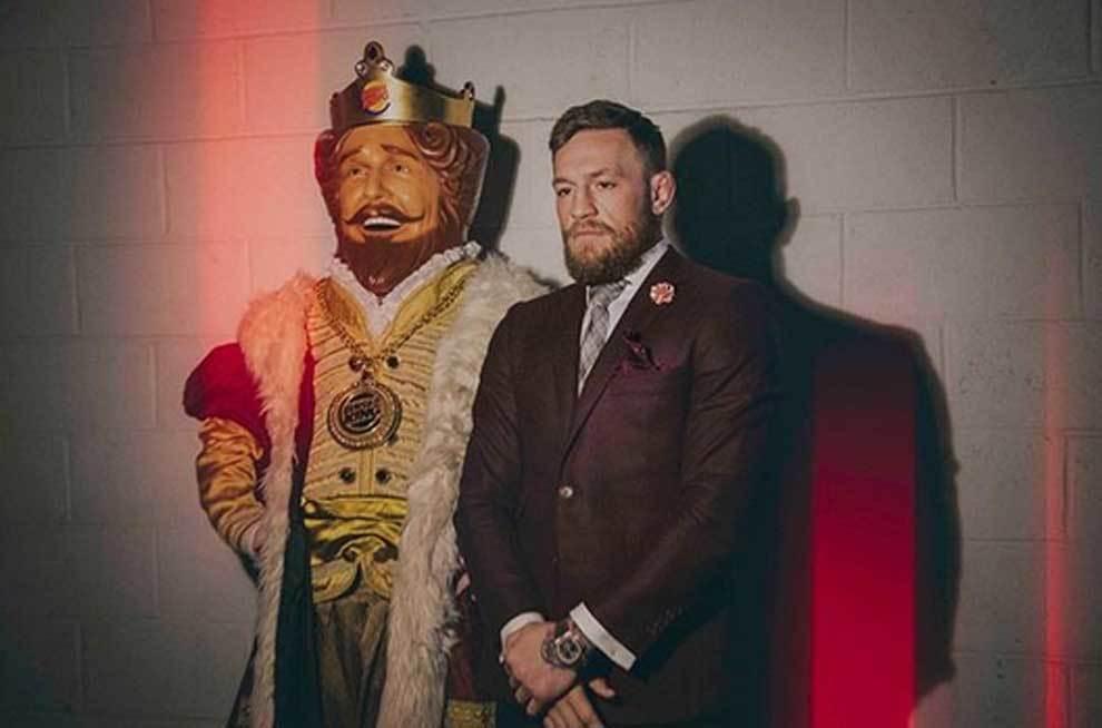 Campaña de publicidad de Conor McGregor para Burger King