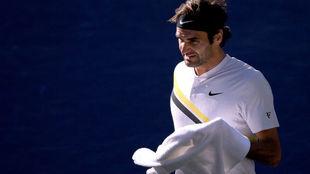 Roger Federer, durante un momento del encuentro.