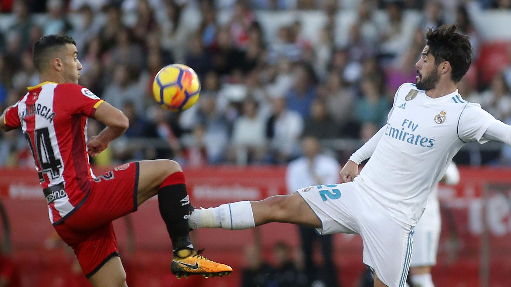 Borja García en el partido de la primera vuelta contra el Real Madrid