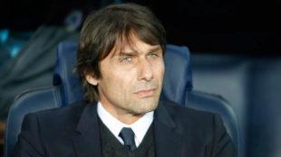 Antonio Conte en el Camp Nou