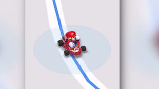 Imagen de la aparición de Mario en Google Maps